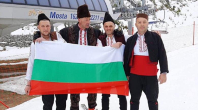 Българският трибагреник качен по ски пистите на Пирин