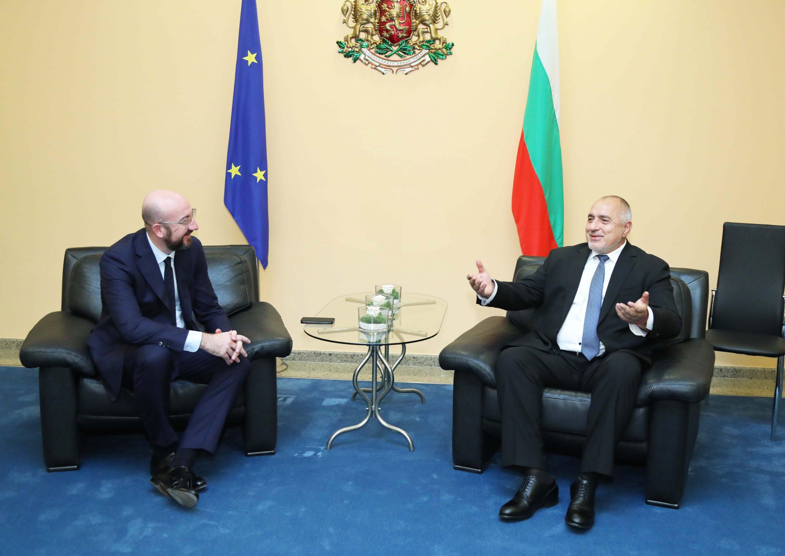 Борисов към Шарл Мишел: България продължава да осигурява високо ниво на сигурност