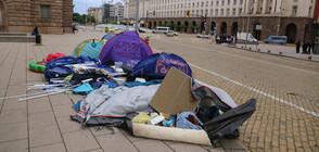 Премахнаха палатковите лагери в столицата