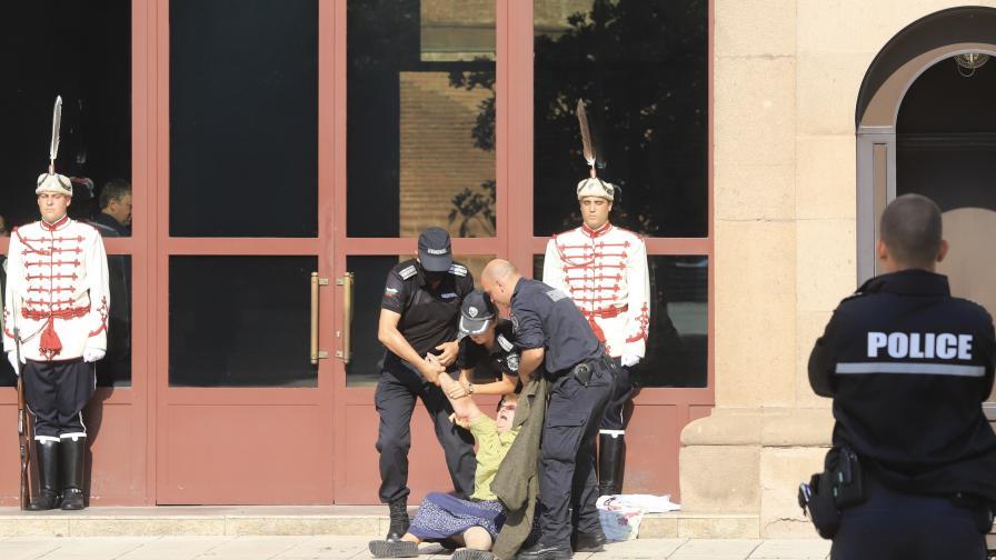 МВР: Жена се опита да нахлуе в сградата на Президентството