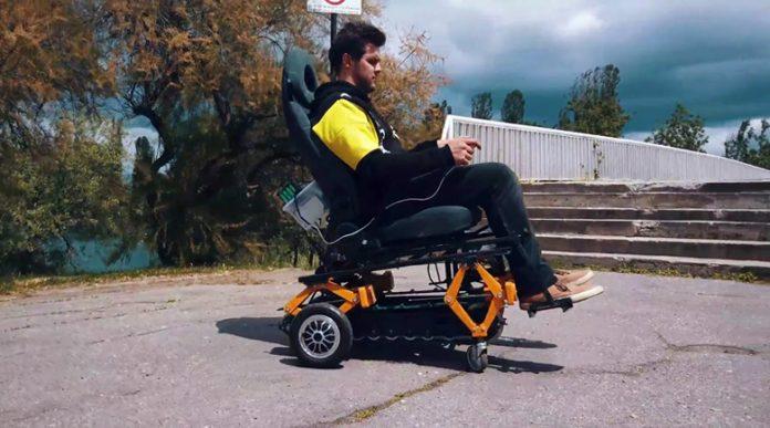 19-годишен българин разработи иновативна инвалидна количка , изкачва стълби с лекота