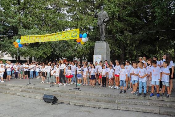 """В Банско с детска цветна дъга закриха детската програма """"Здравей лято"""""""