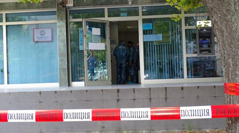 Ключ върху касата чакал крадците от банката в Сандански