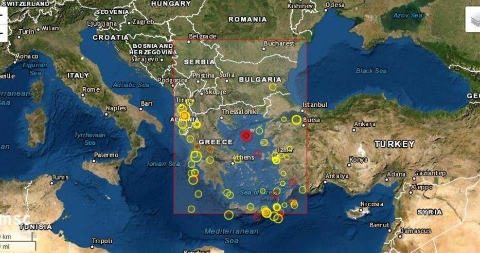 Земетресение в Гърция, усетено и в България