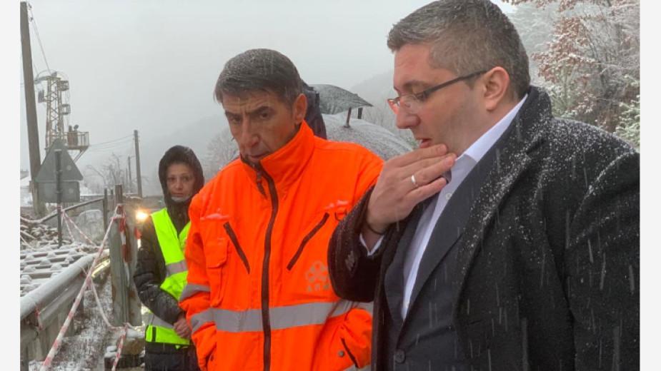 Николай Нанков: Пътят Симитли-Банско няма да бъде затварян, но трябва да бъде трайно укрепен