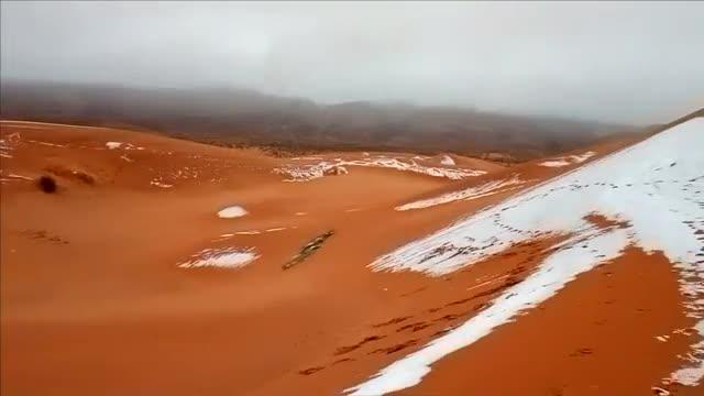 Сняг и лед в пустинята Сахара