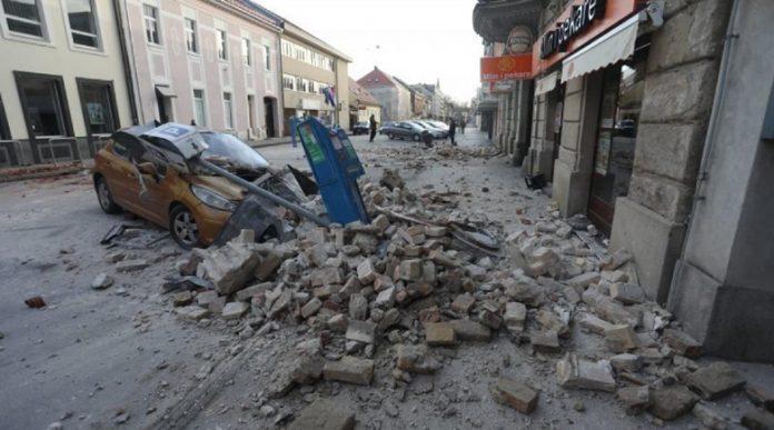 Огромни дупки в земята след труса в Хърватия