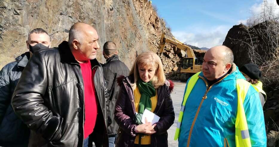 Борисов за пътя към Искърското дефиле: Надявам се до към сряда да е готово