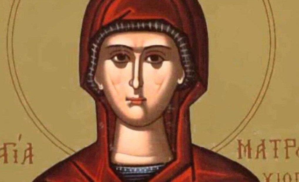 Св. Матрона Солунска била слугиня, господарката й я убила чрез глад и бой заради вярата