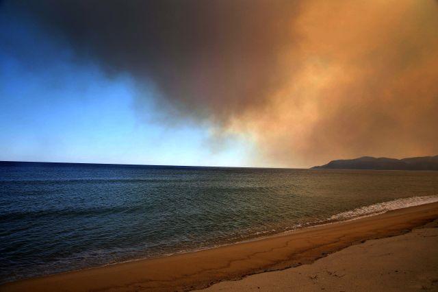 Необичайно явление беше забелязано на плаж в Халкидики